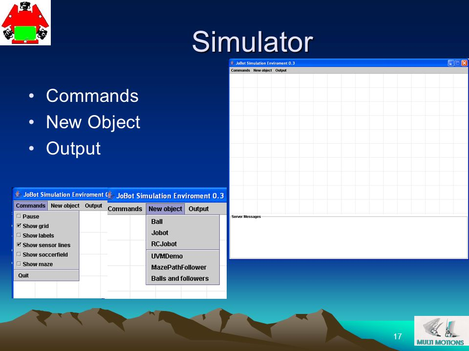Simulator Commands New Object Output