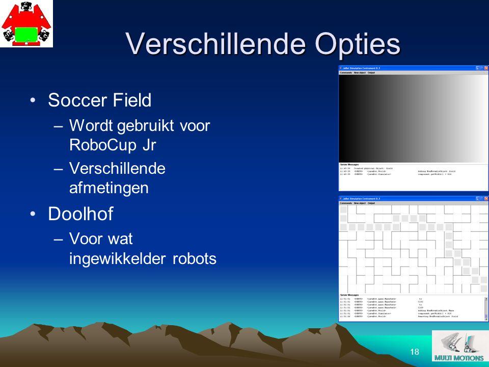 Verschillende Opties Soccer Field Doolhof