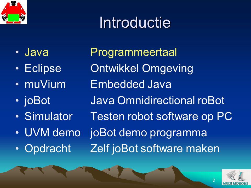 Introductie Java Programmeertaal Eclipse Ontwikkel Omgeving
