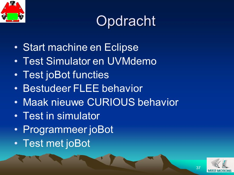 Opdracht Start machine en Eclipse Test Simulator en UVMdemo
