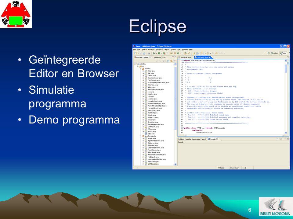 Eclipse Geïntegreerde Editor en Browser Simulatie programma