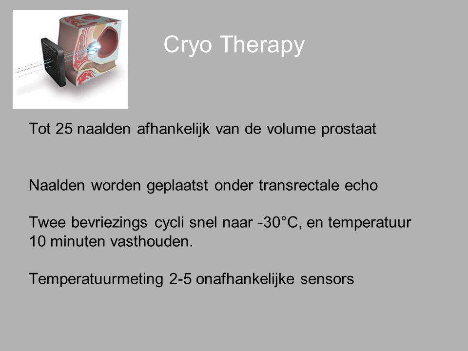Cryo Therapy Tot 25 naalden afhankelijk van de volume prostaat