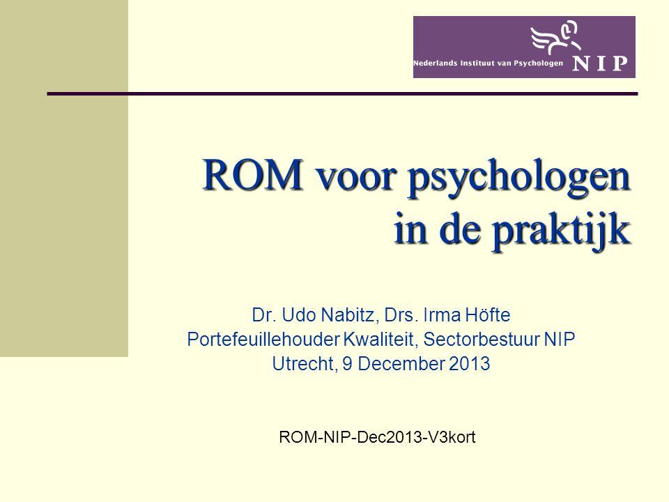 ROM voor psychologen in de praktijk