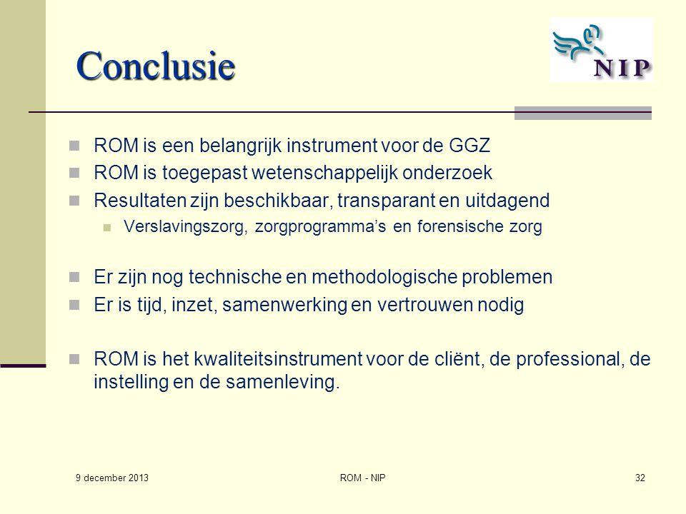 Conclusie ROM is een belangrijk instrument voor de GGZ