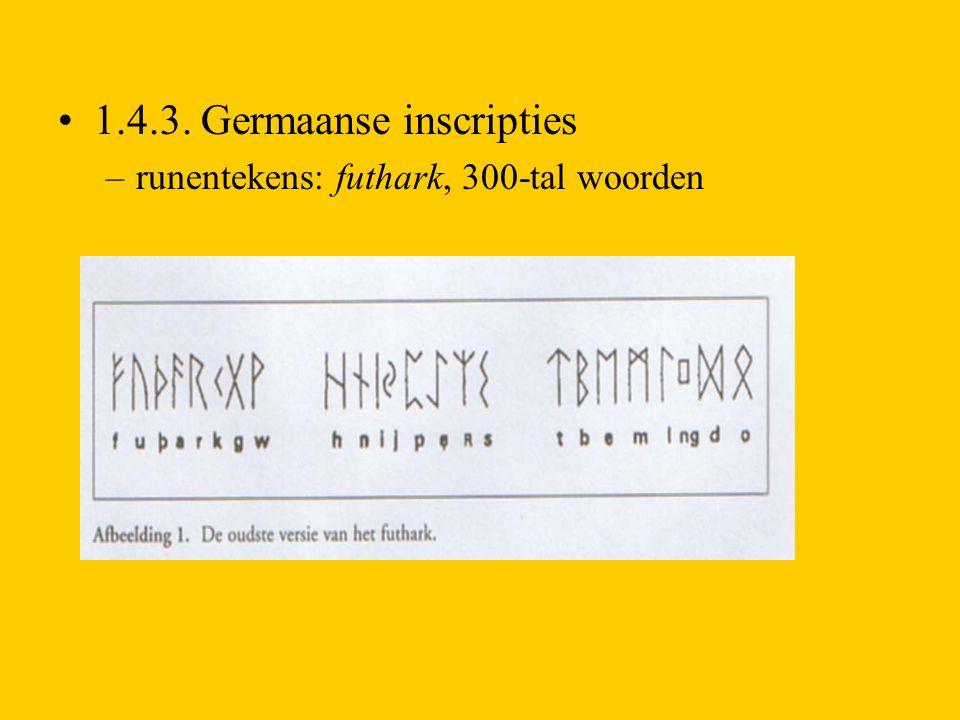 1.4.3. Germaanse inscripties
