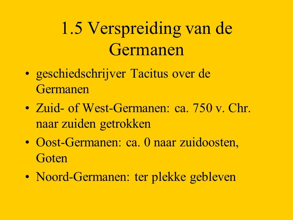 1.5 Verspreiding van de Germanen