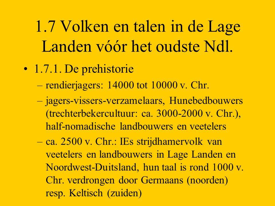 1.7 Volken en talen in de Lage Landen vóór het oudste Ndl.