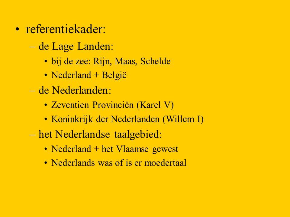 referentiekader: de Lage Landen: de Nederlanden: