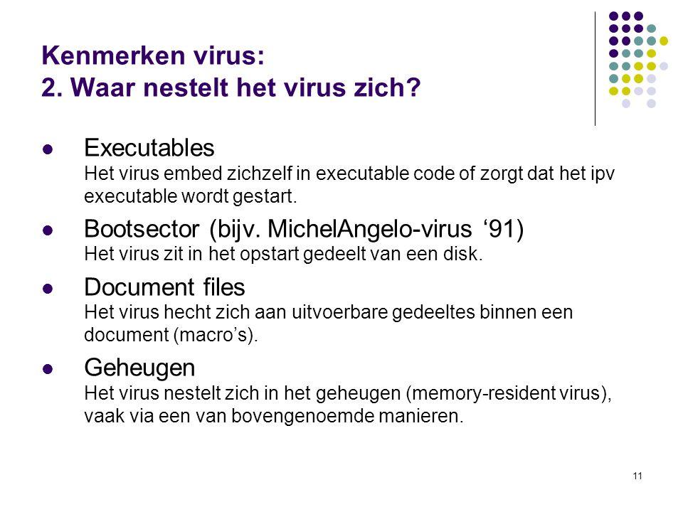Kenmerken virus: 2. Waar nestelt het virus zich