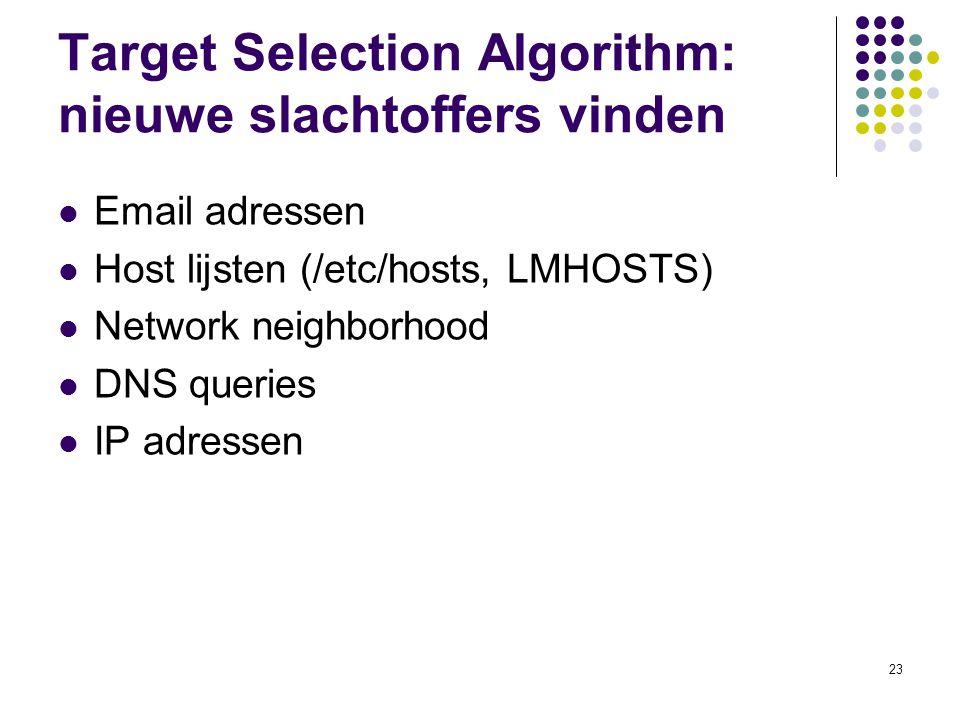 Target Selection Algorithm: nieuwe slachtoffers vinden