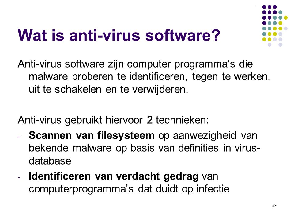 Wat is anti-virus software