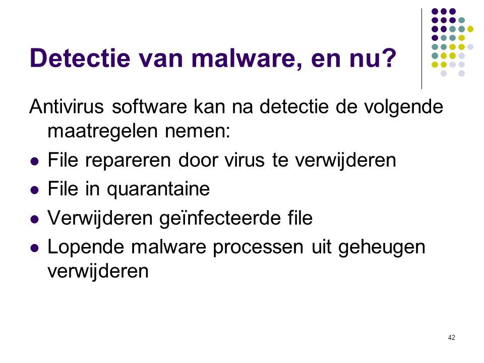 Detectie van malware, en nu