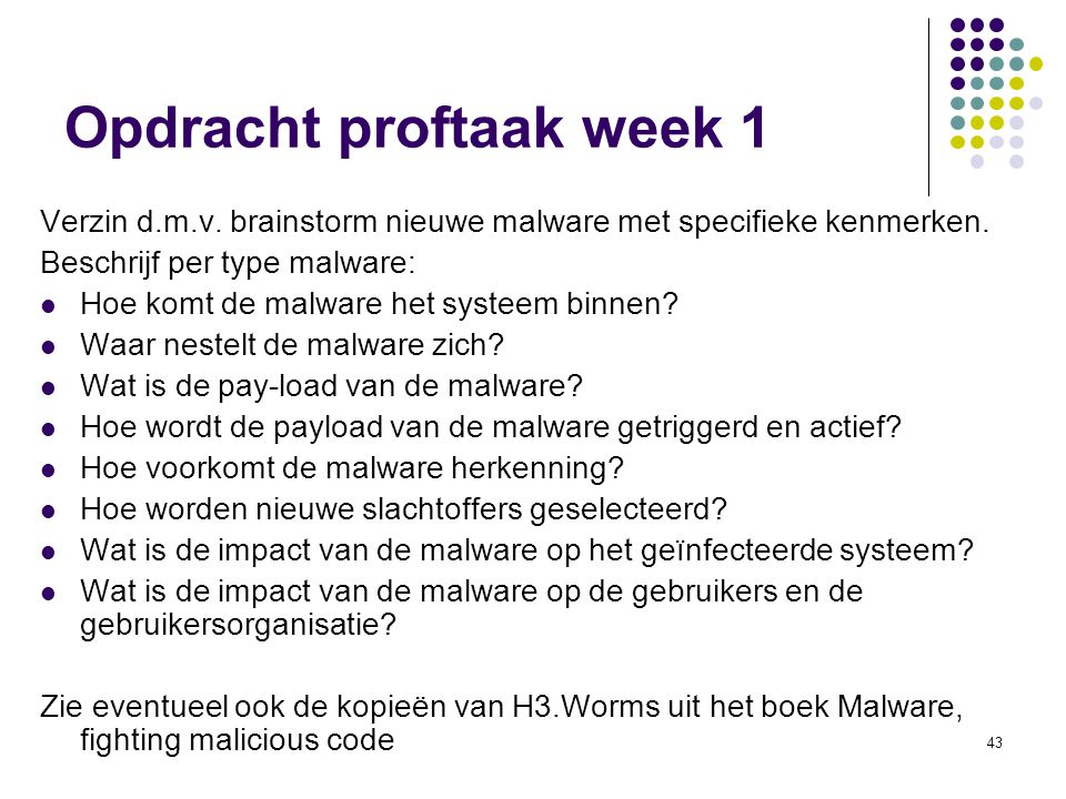 Opdracht proftaak week 1