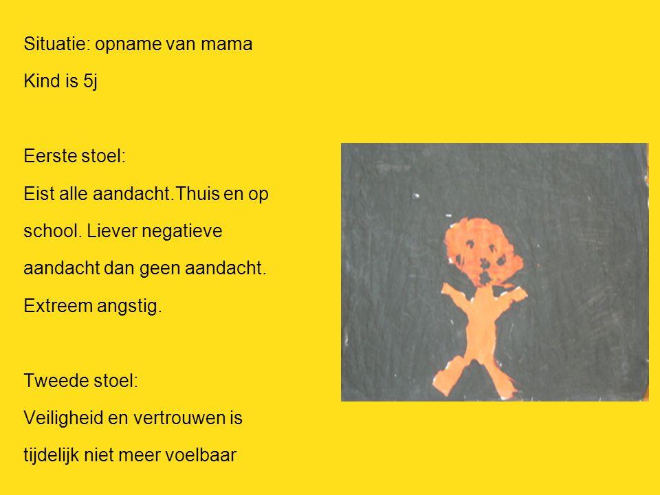 Situatie: opname van mama Kind is 5j Eerste stoel: Eist alle aandacht