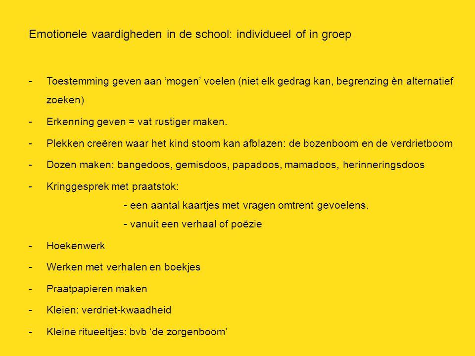 Emotionele vaardigheden in de school: individueel of in groep