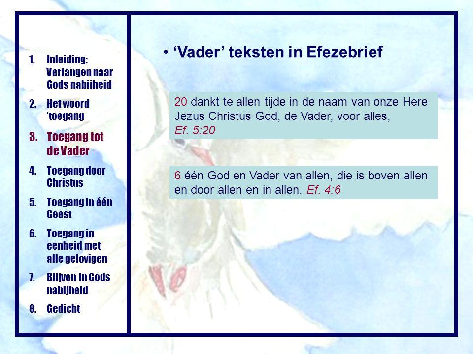 'Vader' teksten in Efezebrief