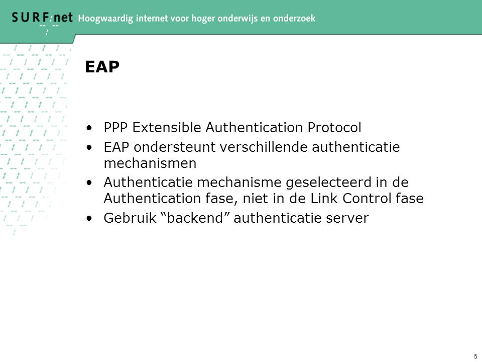EAP PPP Extensible Authentication Protocol