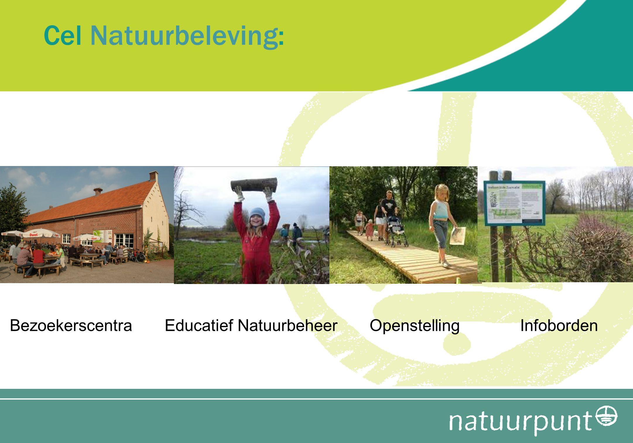 Cel Natuurbeleving: Bezoekerscentra Educatief Natuurbeheer Openstelling Infoborden.