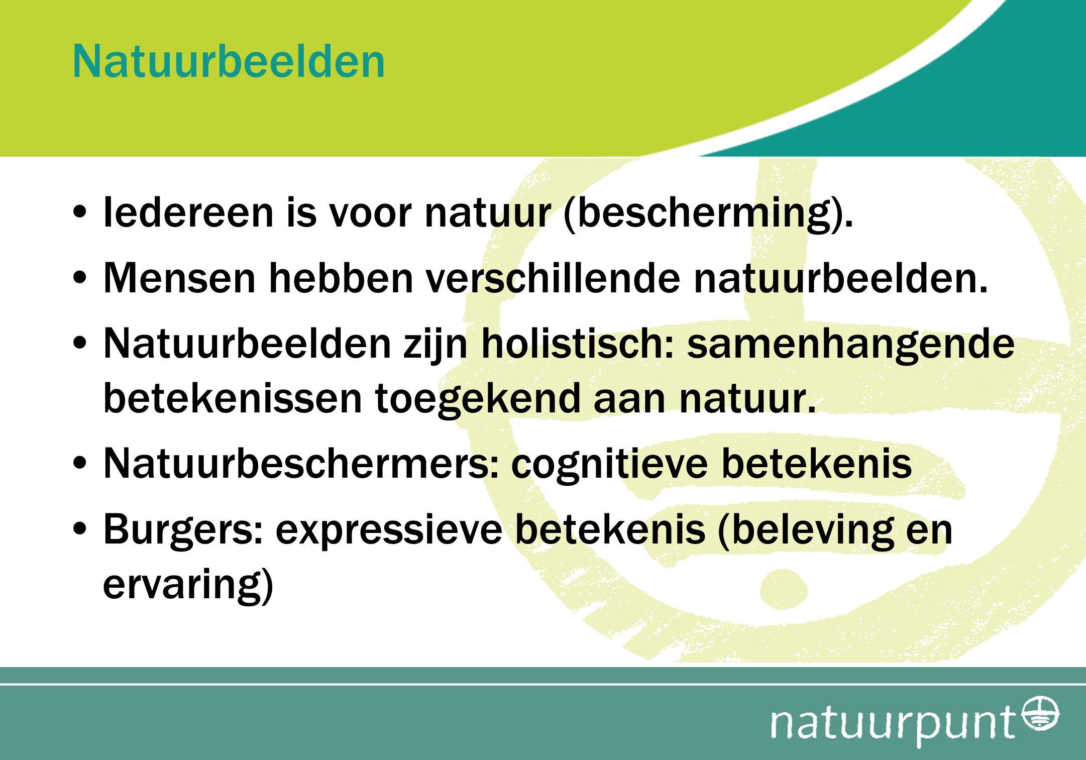 Natuurbeelden Iedereen is voor natuur (bescherming).