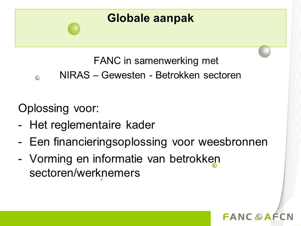 Het reglementaire kader Een financieringsoplossing voor weesbronnen