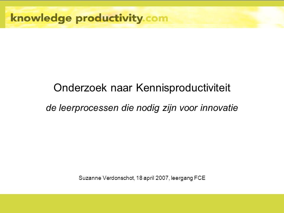 Onderzoek naar Kennisproductiviteit
