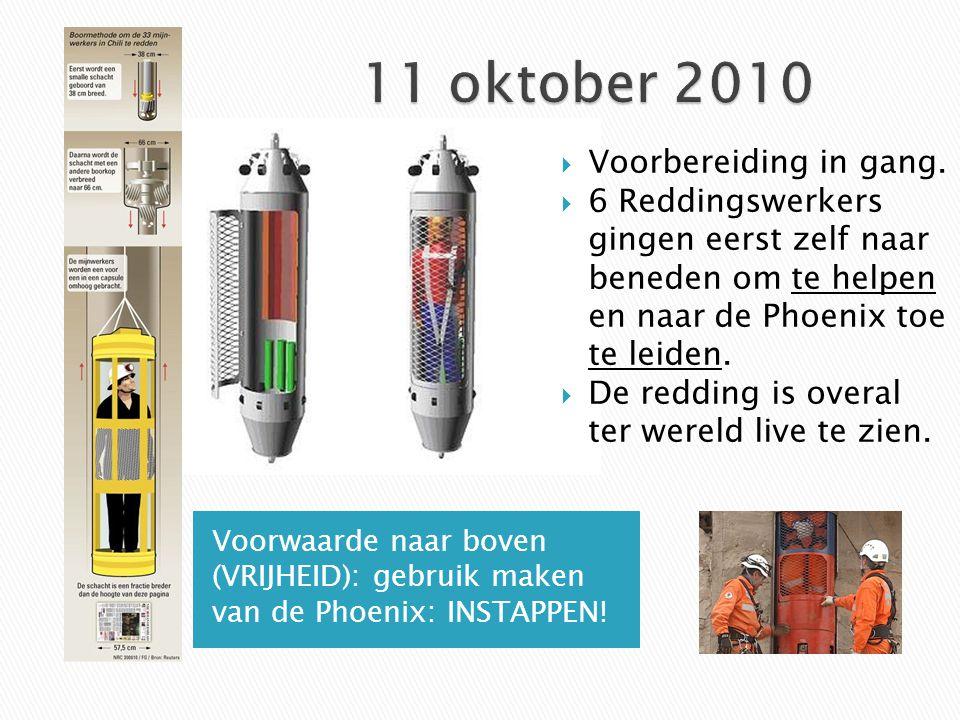 11 oktober 2010 Voorbereiding in gang.