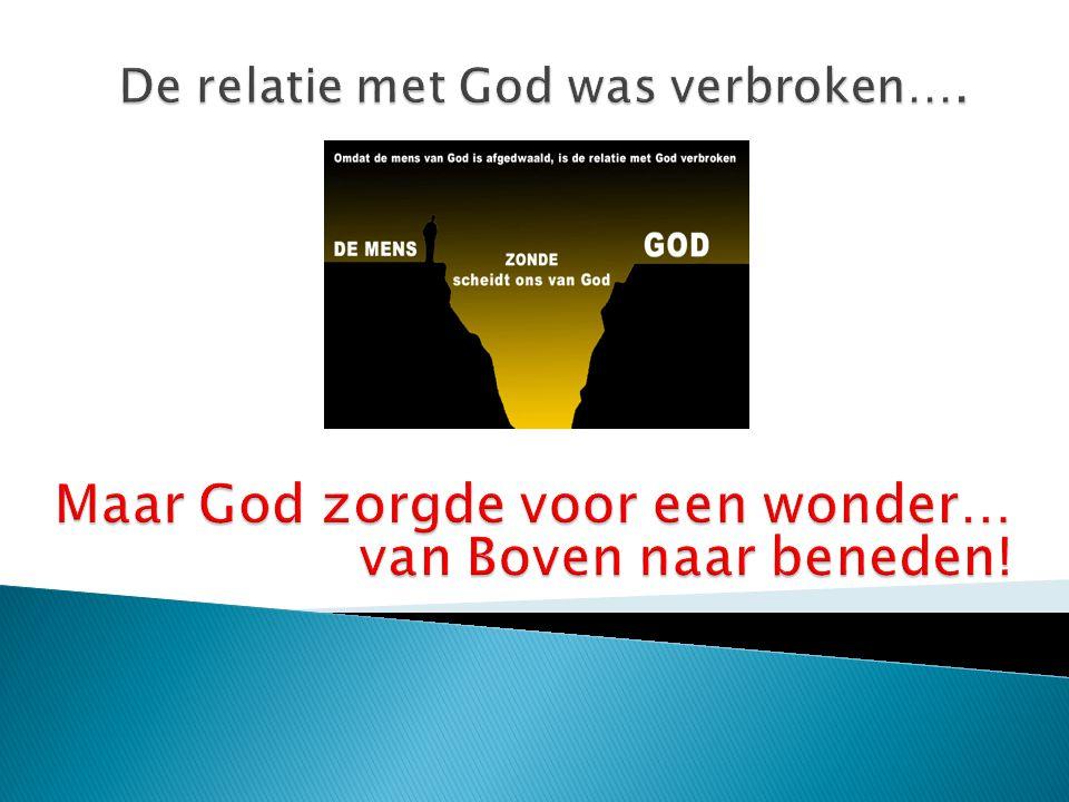 De relatie met God was verbroken….