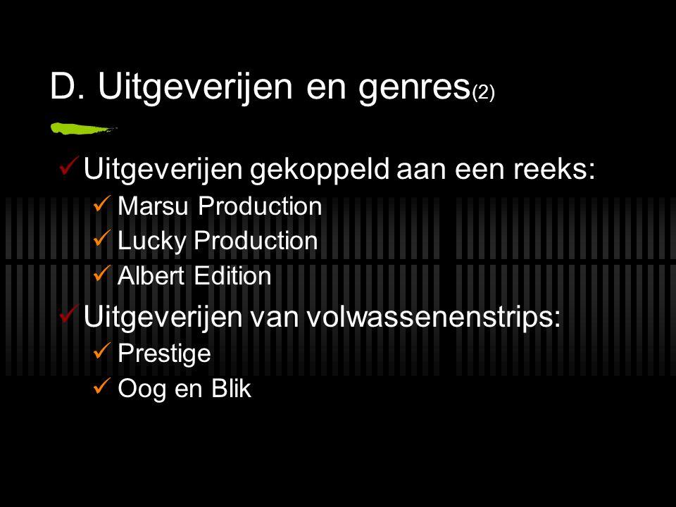 D. Uitgeverijen en genres(2)