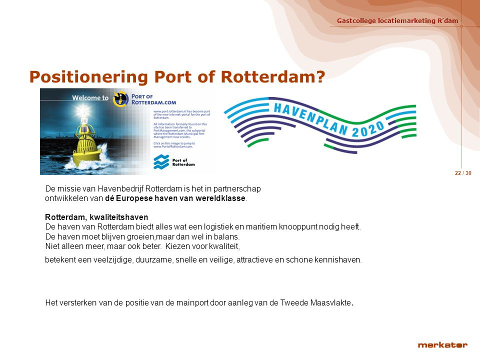 Positionering Port of Rotterdam