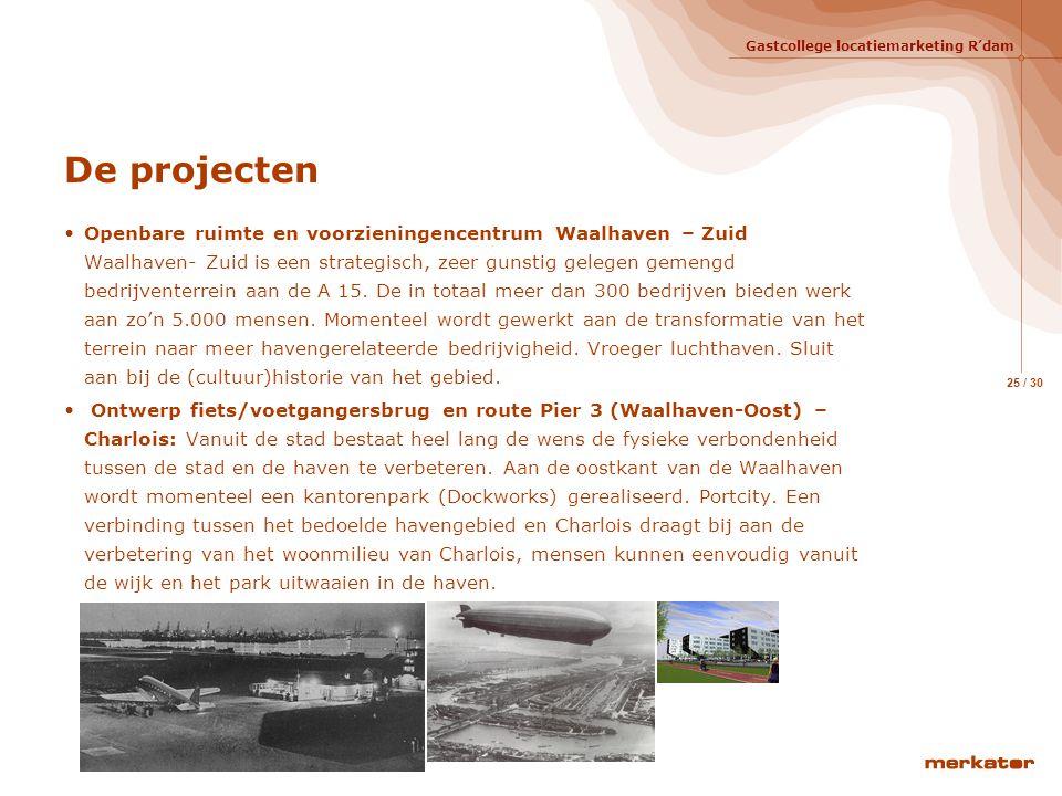 De projecten