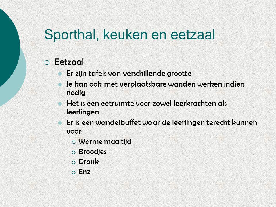 Sporthal, keuken en eetzaal