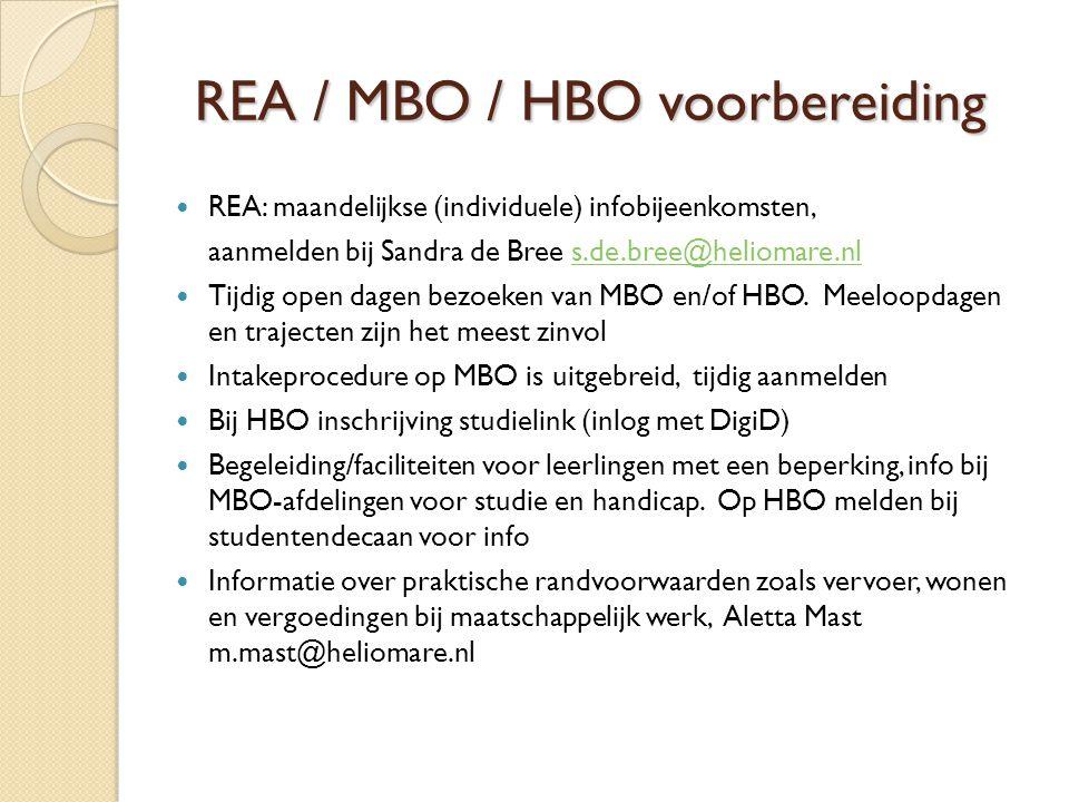 REA / MBO / HBO voorbereiding