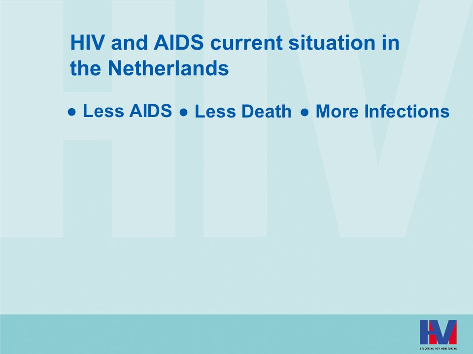 HIV and AIDS current situation in the Netherlands