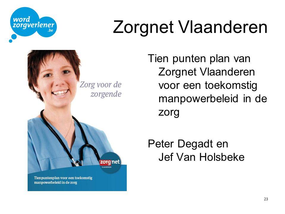 Zorgnet Vlaanderen Tien punten plan van Zorgnet Vlaanderen voor een toekomstig manpowerbeleid in de zorg.