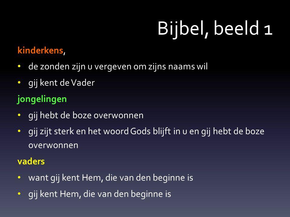 Bijbel, beeld 1 kinderkens,
