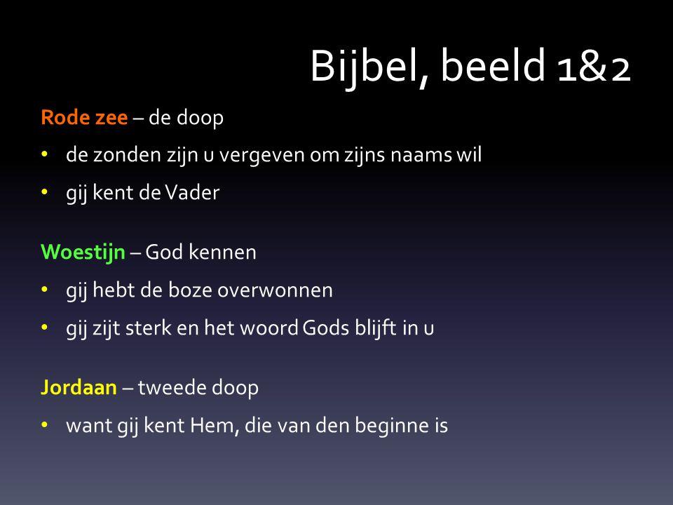 Bijbel, beeld 1&2 Rode zee – de doop