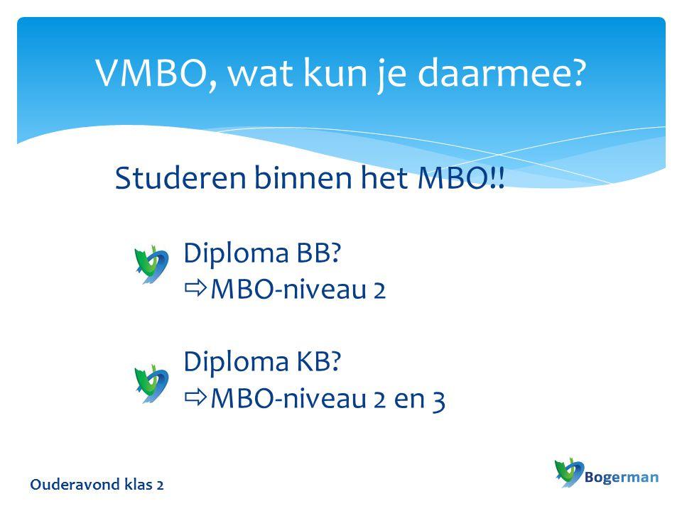VMBO, wat kun je daarmee Studeren binnen het MBO!!