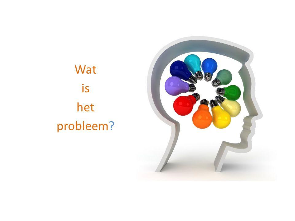 Wat is het probleem Als de organisatie goed draait, begin er dan niet aan.