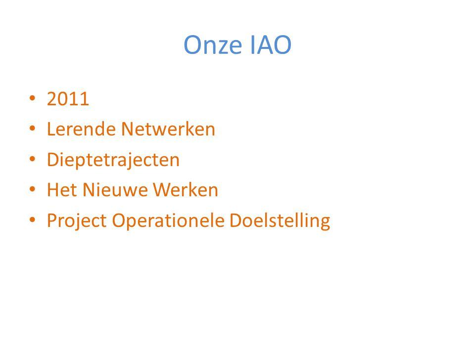 Onze IAO 2011 Lerende Netwerken Dieptetrajecten Het Nieuwe Werken