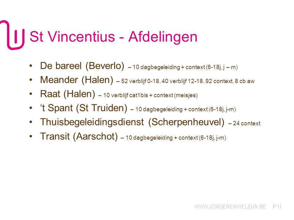 St Vincentius - Afdelingen