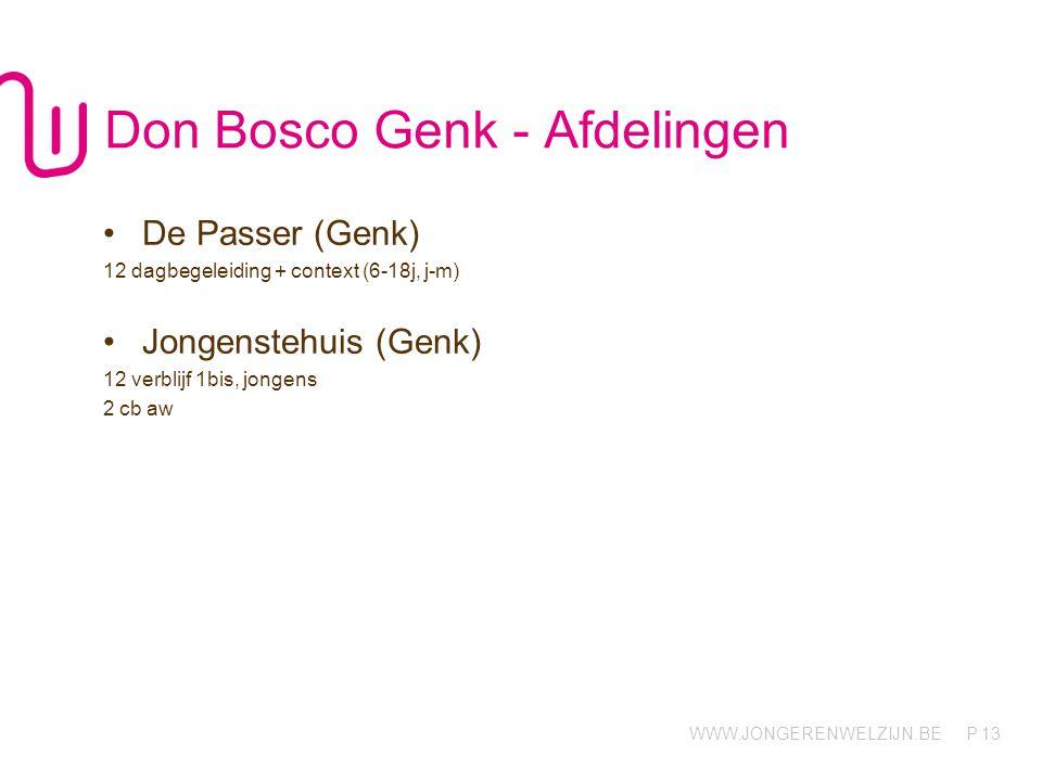 Don Bosco Genk - Afdelingen