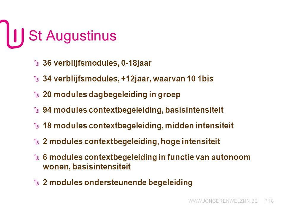 St Augustinus 36 verblijfsmodules, 0-18jaar