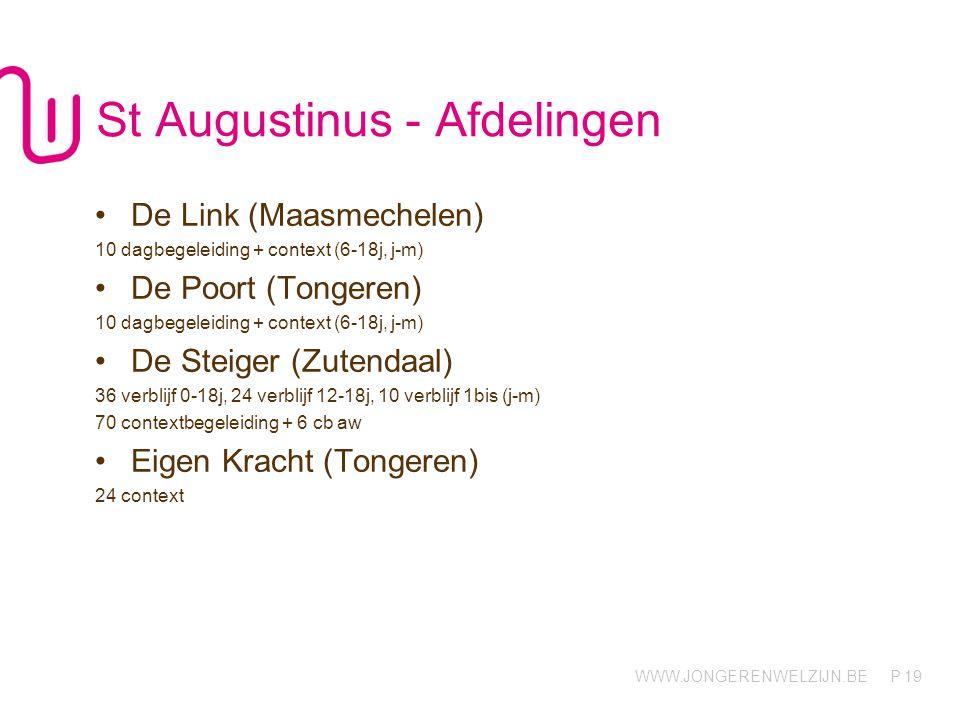 St Augustinus - Afdelingen