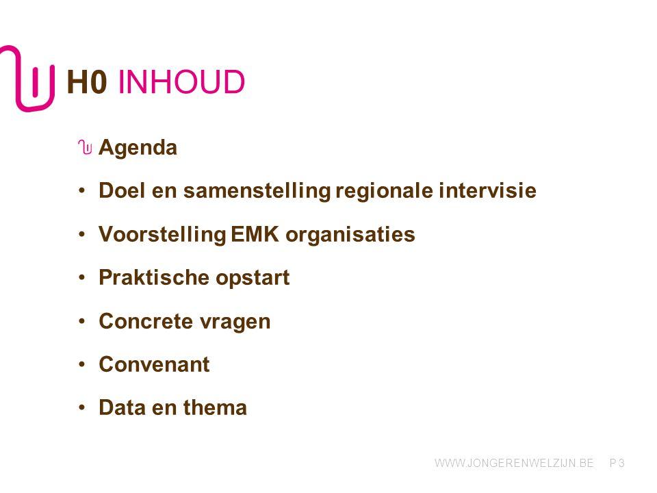 H0 INHOUD Agenda Doel en samenstelling regionale intervisie