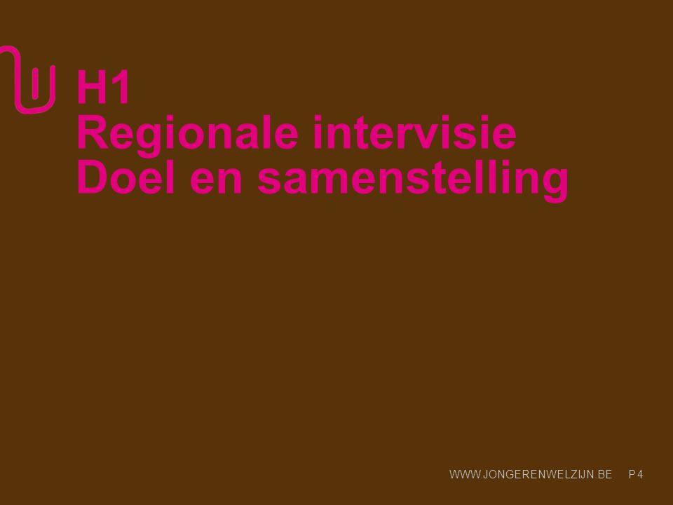 H1 Regionale intervisie Doel en samenstelling