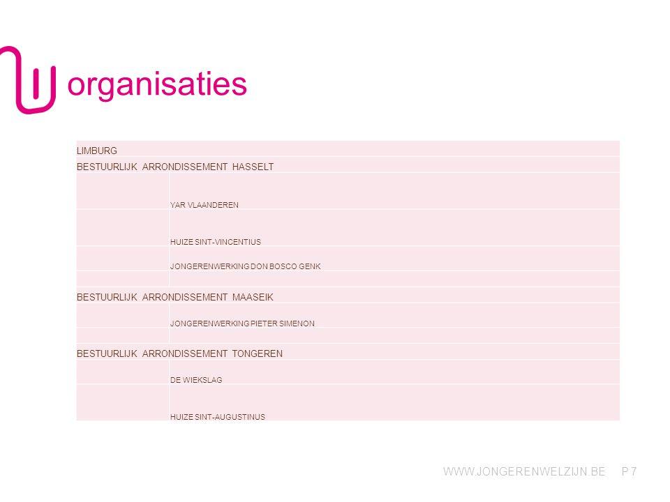 organisaties LIMBURG BESTUURLIJK ARRONDISSEMENT HASSELT
