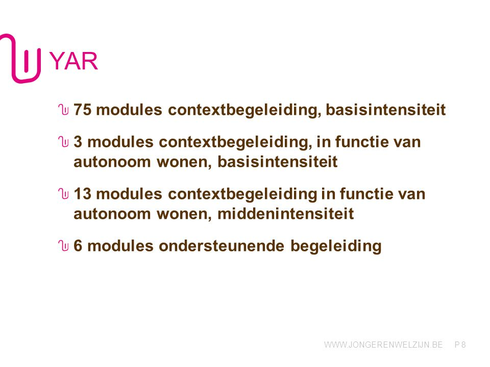 YAR 75 modules contextbegeleiding, basisintensiteit