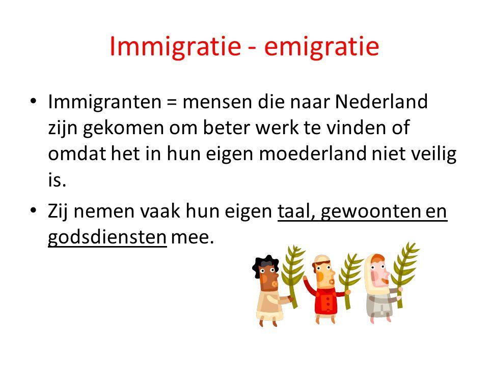 Immigratie - emigratie