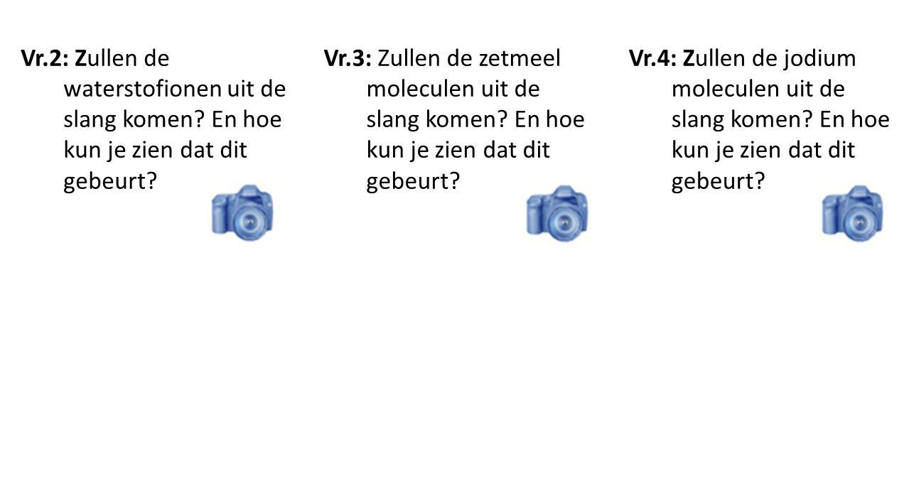 Vr. 2: Zullen de waterstofionen uit de slang komen