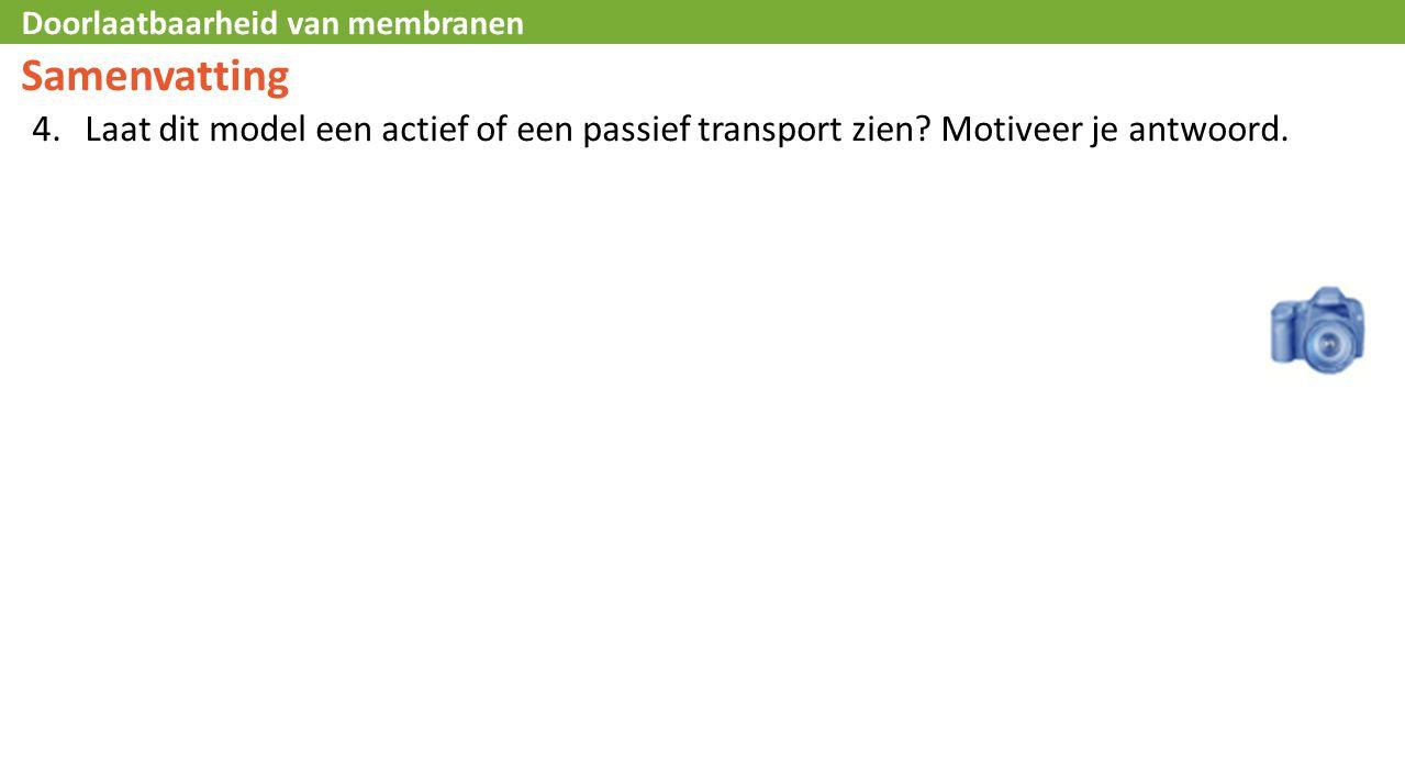 Samenvatting Laat dit model een actief of een passief transport zien Motiveer je antwoord. L45 – Text Box.